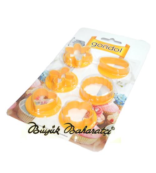 Pasta Kalıbı 6'lı Plastik