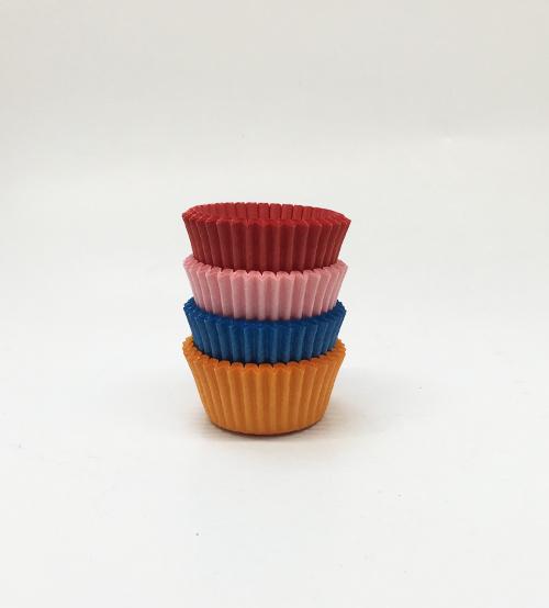 Pasta Kalıbı Mini Renkli Oval Kağıt